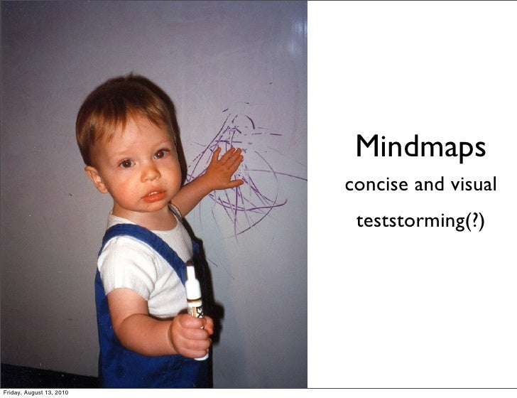 Mindmaps                           concise and visual                            teststorming(?)     Friday, August 13, 20...