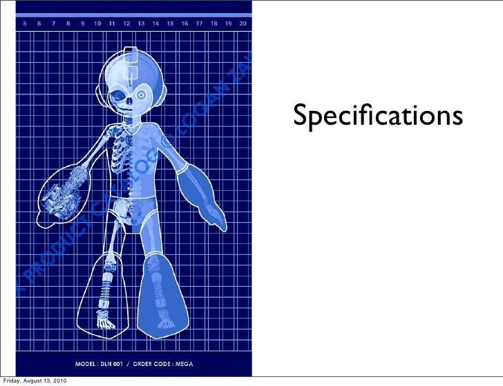 Specifications     Friday, August 13, 2010
