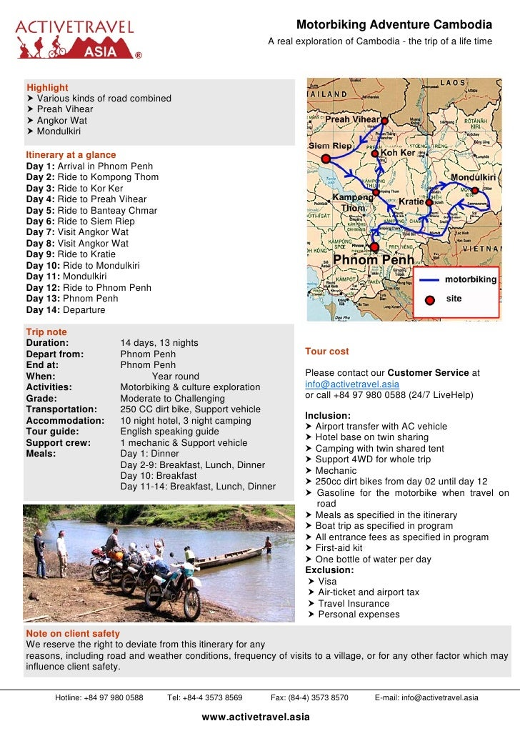 Motorbiking Adventure Cambodia                                                          A real exploration of Cambodia - t...