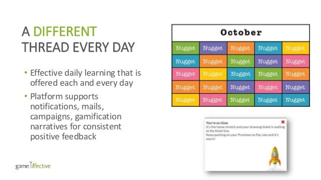 A DIFFERENT THREAD EVERY DAY • Effective daily learning that is offered each and every day • Platform supports notificatio...