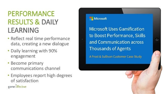 PERFORMANCE RESULTS & DAILY LEARNING • Reflect real time performance data, creating a new dialogue • Daily learning with 9...