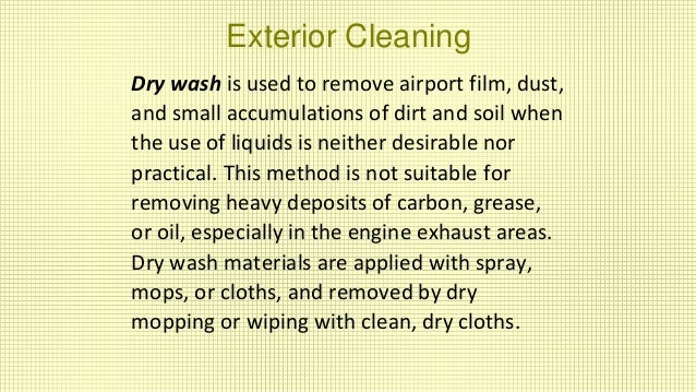 Ate 102 Aircraft Cleaning