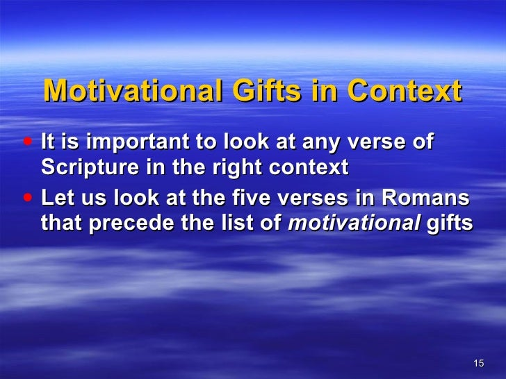 A teaching on spiritual gifts 15 motivational gifts negle Images