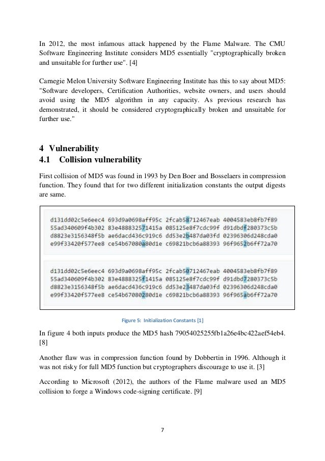A technical writing on cryptographic hash function md5