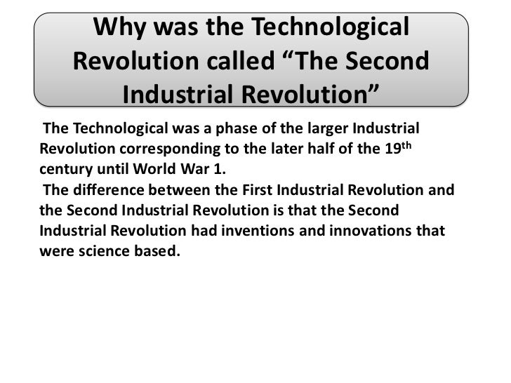 impact of the technological revolution Technological innovations in crime prevention and policing a review of the research on implementation and impact  to be known as the second technology revolution.