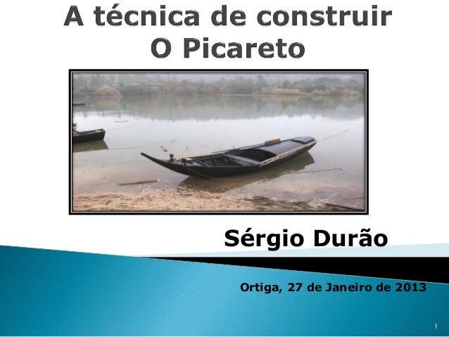 Sérgio Durão Ortiga, 27 de Janeiro de 2013                                 1
