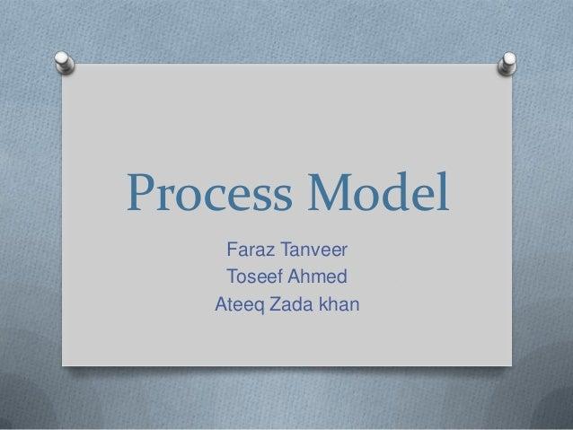 Process Model Faraz Tanveer Toseef Ahmed Ateeq Zada khan