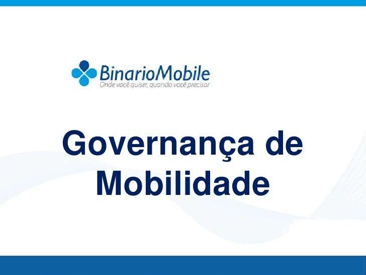 Governança de Mobilidade