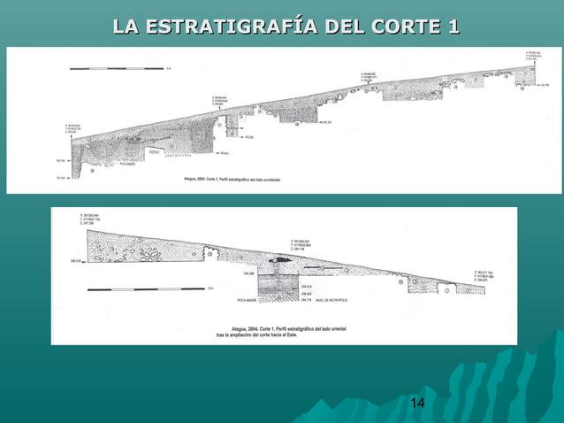 14LA ESTRATIGRAFÍA DEL CORTE 1LA ESTRATIGRAFÍA DEL CORTE 1