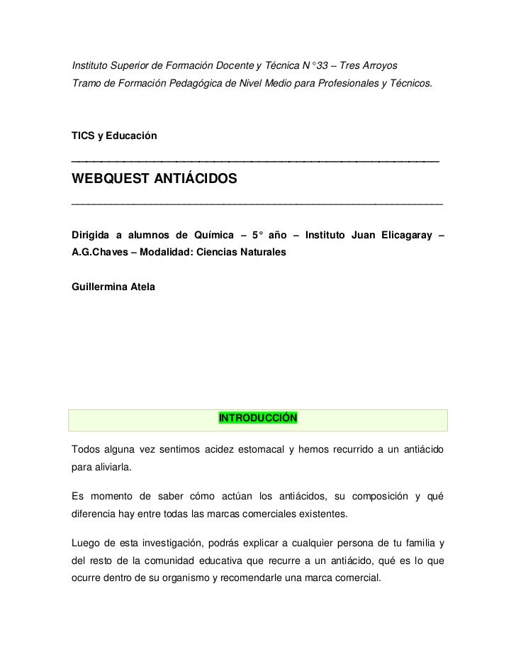 Instituto Superior de Formación Docente y Técnica N° 33 – Tres Arroyos<br />Tramo de Formación Pedagógica de Nivel Medio p...