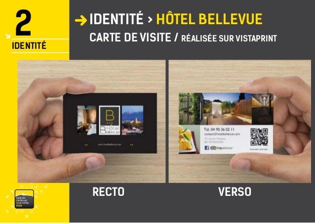 VaisonventouxtourismePRO IDENTIT HTEL BELLEVUE 2 8 CARTE DE VISITE