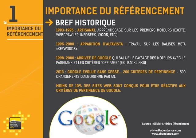 1  importance du référencement  IMPORTANCE du Référencement  danshistorique Bref le monde  1993-1995 : Artisanat, apprenti...