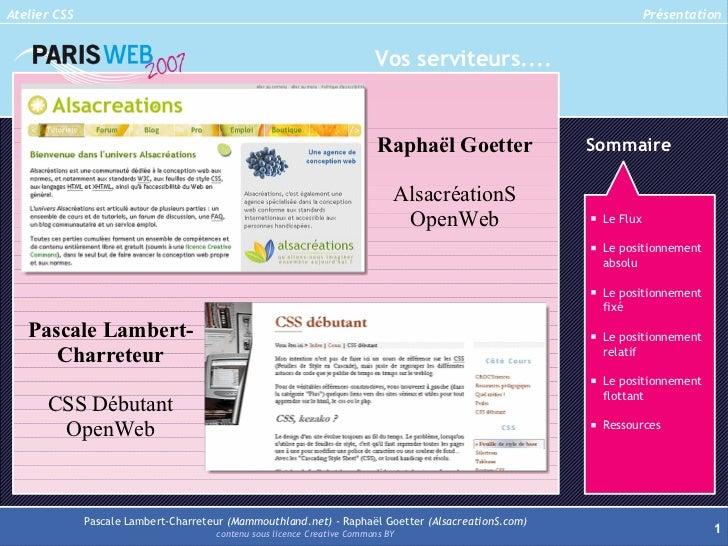 Atelier CSS                                                                                                    Présentatio...