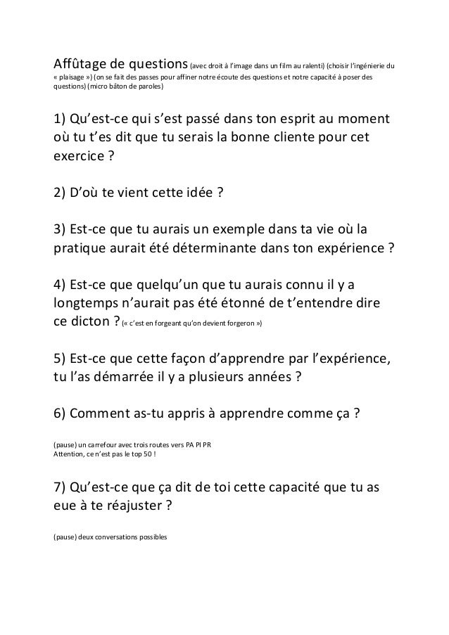 Idée De Question Atelier d affutage de questions