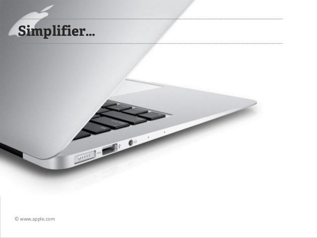 Simplifier…  © www.apple.com