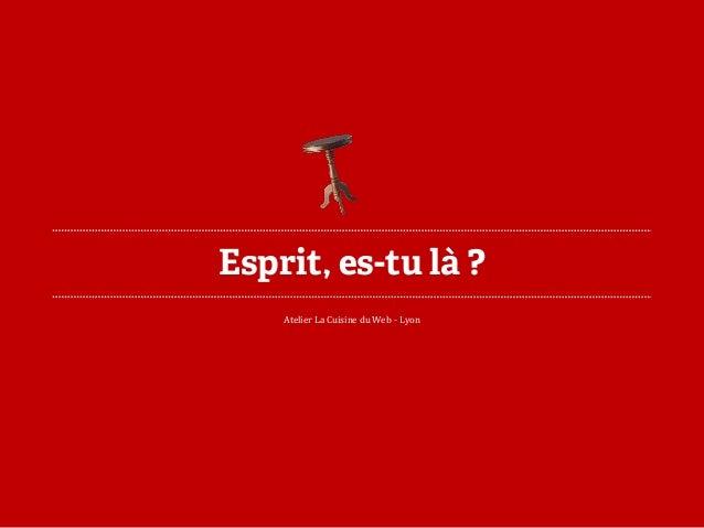 Esprit, es-tu là ?  Atelier La Cuisine du Web -Lyon