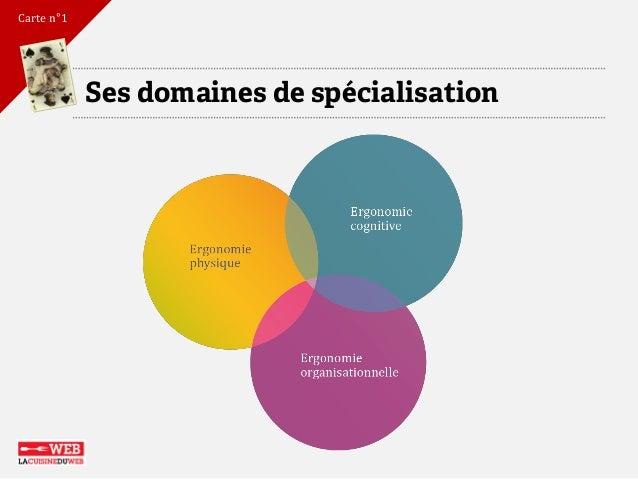 Ses domaines de spécialisation  Carte n°1