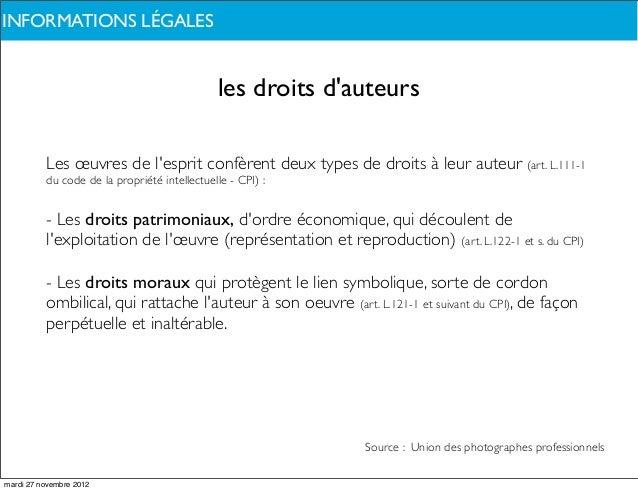 INFORMATIONS LÉGALESDE QUOI PARLONS-NOUS ?                                              les droits dauteurs          Les œ...