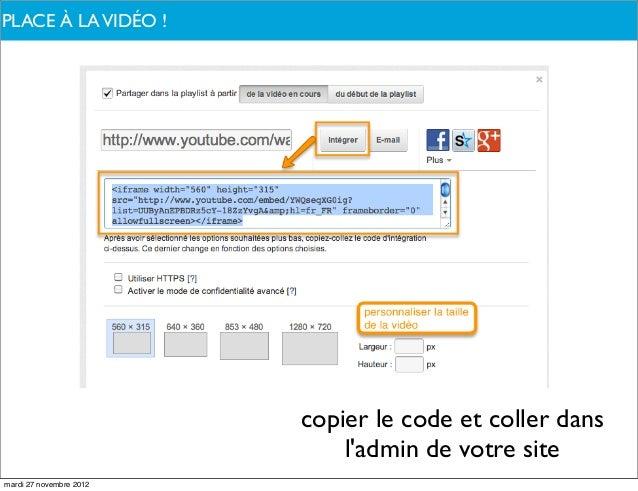 PLACE À PARLONS-NOUS ?DE QUOILA VIDÉO !                         copier le code et coller dans                             ...