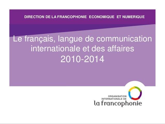 GEC 2017: La Francophonie