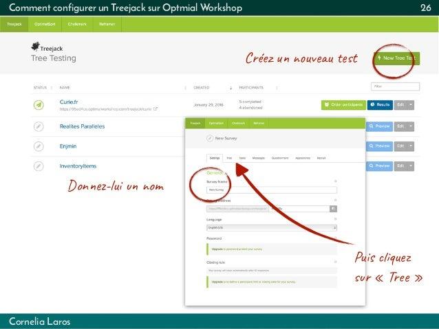 Cornelia Laros Comment configurer un Treejack sur Optmial Workshop 26 Créez  uvu t Don-lu  om Pus qu...