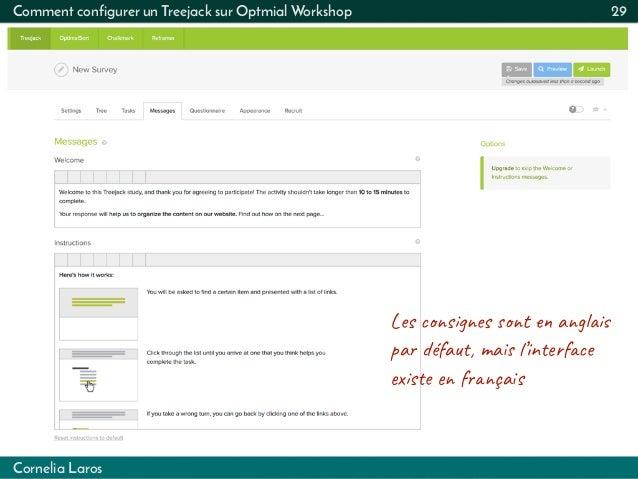 Cornelia Laros Comment configurer un Treejack sur Optmial Workshop 29 Les s  es t  ag   pa éfa, ma  ...