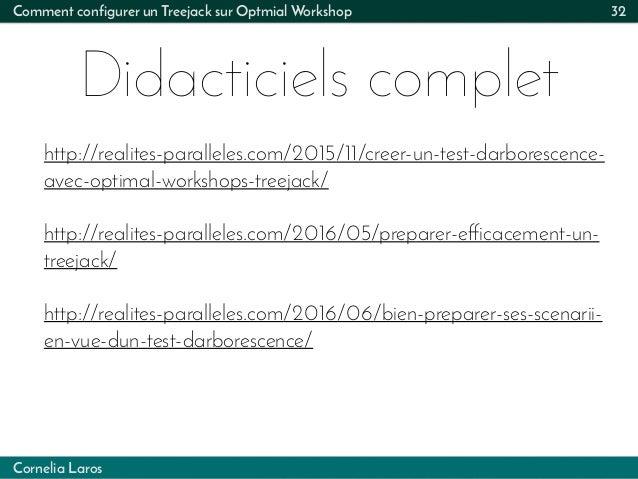 Cornelia Laros Comment configurer un Treejack sur Optmial Workshop Didacticiels complet 32 http://realites-paralleles.com/...