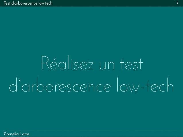 Test d'arborescence low tech Réalisez un test d'arborescence low-tech 7 Cornelia Laros