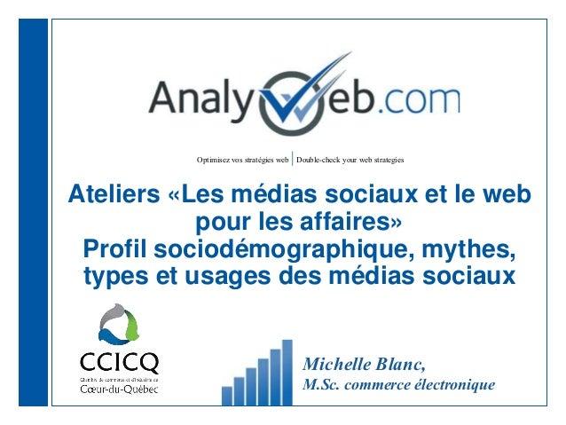 Optimisez vos stratégies web  Double-check your web strategies Ateliers «Les médias sociaux et le web pour les affaires» P...