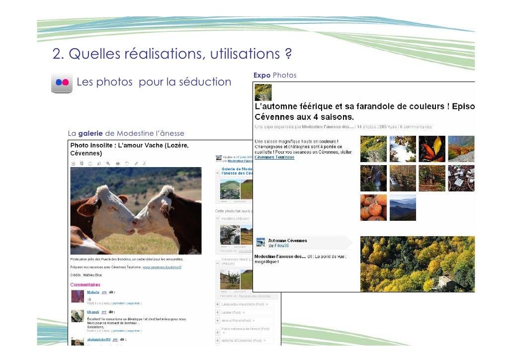 2. Quelles réalisations, utilisations ?                                      Expo Photos     Les photos pour la séduction ...