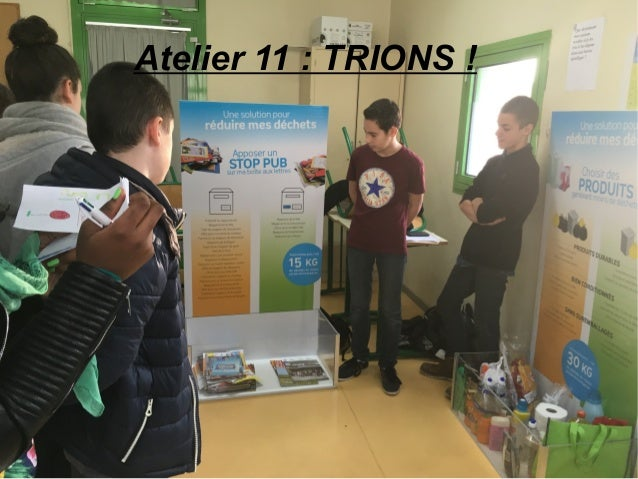 Atelier 11 : TRIONS !