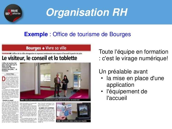 Organisation RH        Exemple : Office de Tourisme Val de GaronneUn nouveau local, unnouvel outil, mais uneréticence de l...