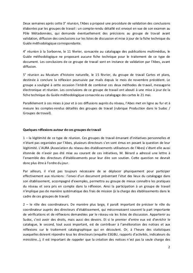 """Jabes 2010 - Atelier 1 """"Catalogage et groupe de travail"""" Slide 2"""