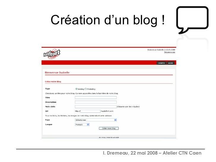 Création d'un blog !