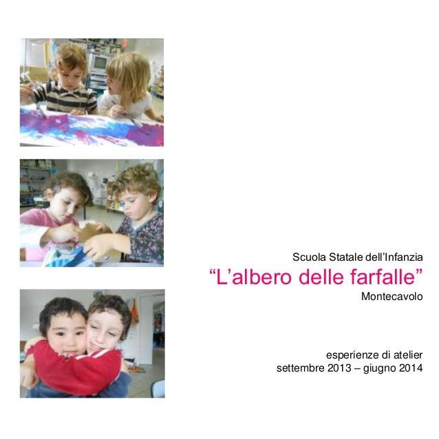 """Scuola Statale dell'Infanzia """"L'albero delle farfalle"""" Montecavolo esperienze di atelier settembre 2013 – giugno 2014"""