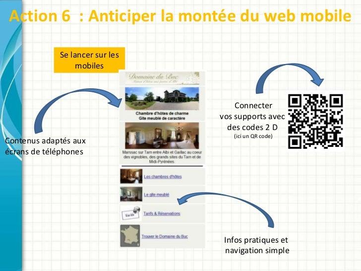 Action 6 : Anticiper la montée du web mobile             Se lancer sur les                  mobiles                       ...