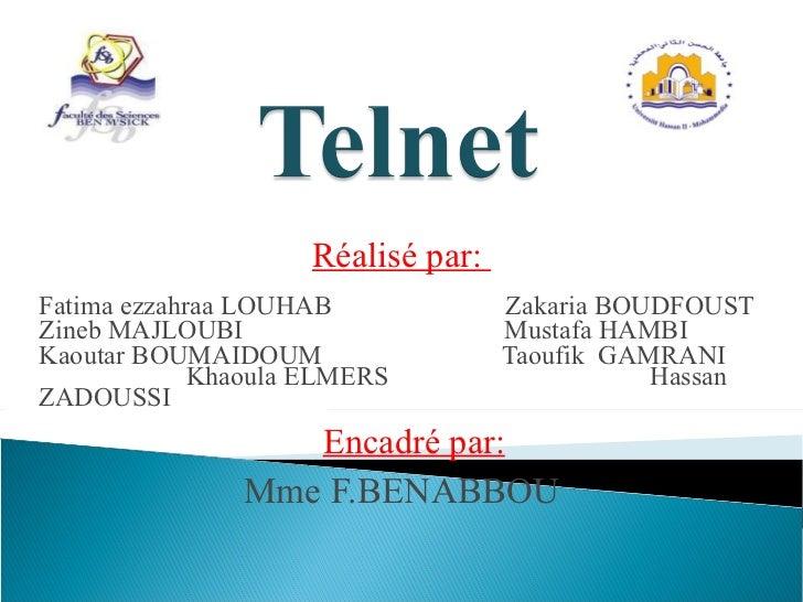 Réalisé par:  Fatima ezzahraa LOUHAB  Zakaria BOUDFOUST Zineb MAJLOUBI  Mustafa HAMBI Kaoutar BOUMAIDOUM  Taoufik  GAMRANI...