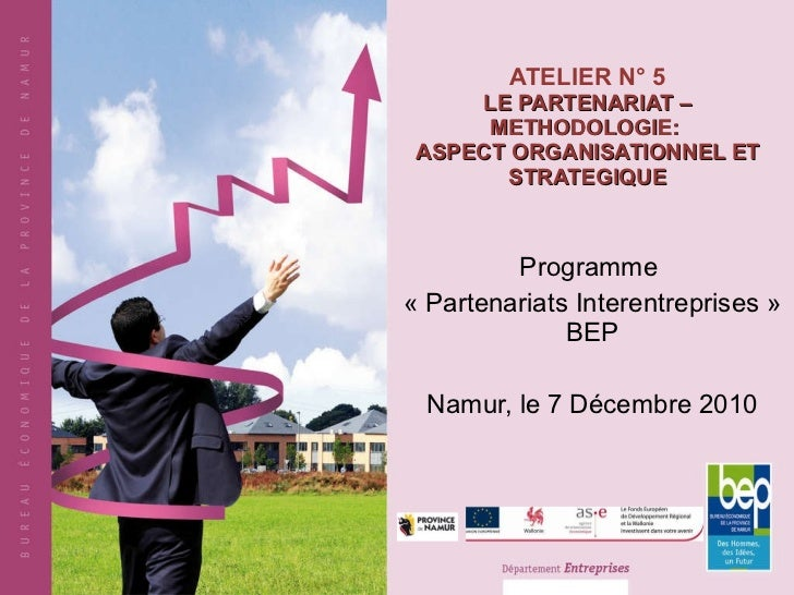ATELIER N° 5 LE PARTENARIAT – METHODOLOGIE:  ASPECT ORGANISATIONNEL ET STRATEGIQUE Programme  « Partenariats Interentrepri...