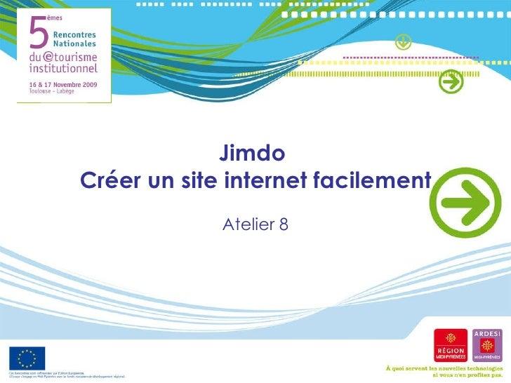 Jimdo  Créer un site internet facilement Atelier 8