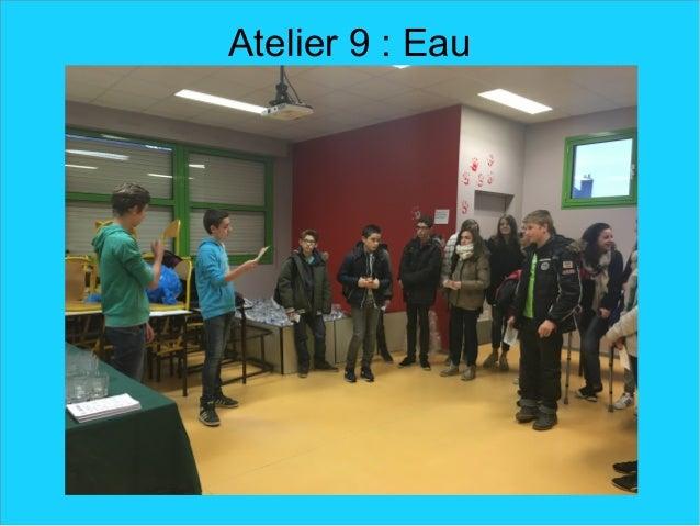 Atelier 9 : Eau