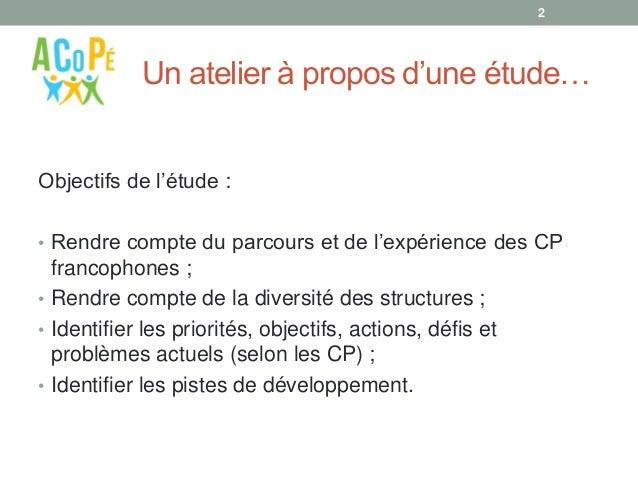 Portrait de famille des conseillers pédagogiques dans l'enseignement supérieur francophone Slide 2
