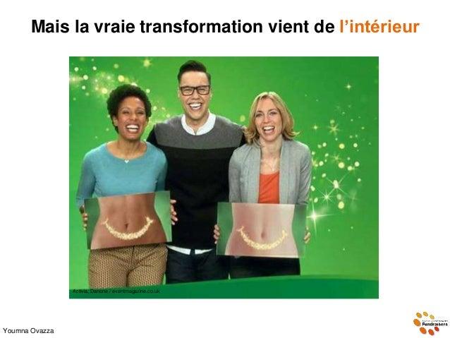 Mais la vraie transformation vient de l'intérieur Youmna Ovazza vivrelivre19.over-blog.com Activia, Danone / eventmagazine...