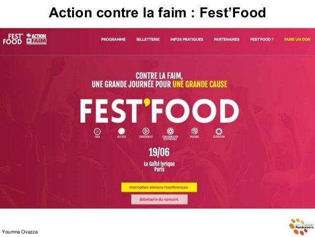 Action contre la faim : Fest'Food Youmna Ovazza