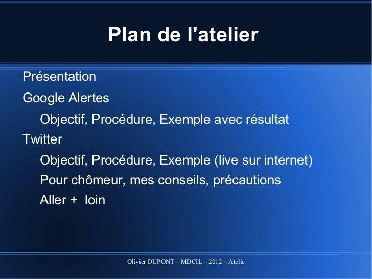Atelier alertes 2012 Slide 2