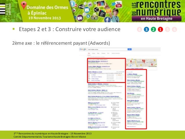  Etapes 2 et 3 : Construire votre audience 2ème axe : le référencement payant (Adwords)  1ères Rencontres du numérique en...