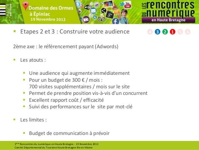  Etapes 2 et 3 : Construire votre audience 2ème axe : le référencement payant (Adwords)  Les atouts :  Une audience qui...