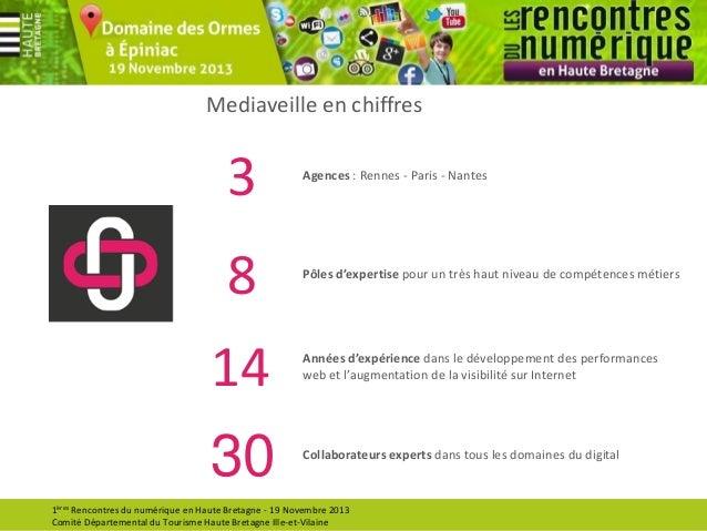 Mediaveille en chiffres  3  Agences : Rennes - Paris - Nantes  8  Pôles d'expertise pour un très haut niveau de compétence...