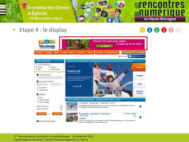  Etape 4 : le display  1ères Rencontres du numérique en Haute Bretagne - 19 Novembre 2013 Comité Départemental du Tourism...