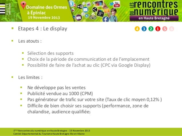  Etapes 4 : Le display  4  3  2  1   Les atouts :  Sélection des supports  Choix de la période de communication et de ...