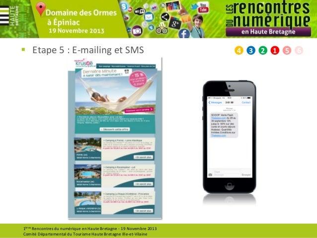  Etape 5 : E-mailing et SMS  1ères Rencontres du numérique en Haute Bretagne - 19 Novembre 2013 Comité Départemental du T...